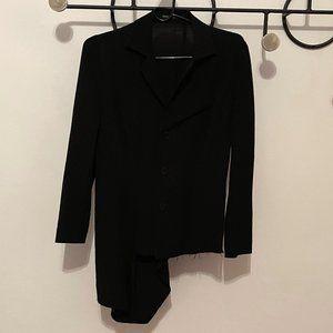 YOHJI YAMAMOTO Wool/Silk Asymmetric Blazer
